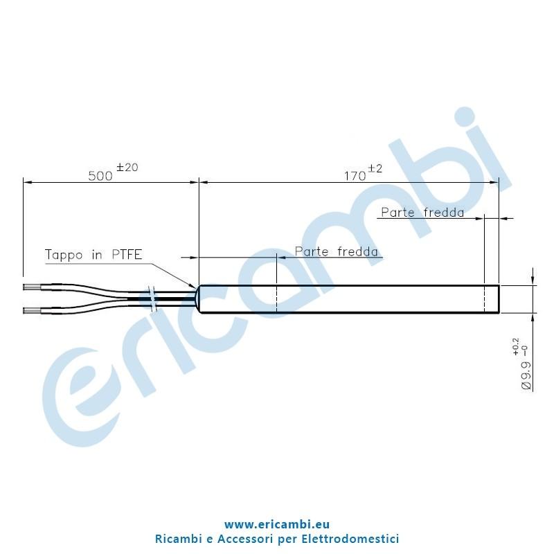 Resistenza a cartuccia 300 watt per stufe a pellet for Stufa pellet usata 300 euro